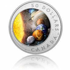 Silbermünze 5 oz Solar System - Sonnensystem 2021