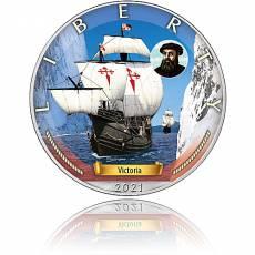 Silbermünze Zeitalter der Segel Victoria 6. Ausgabe 2021