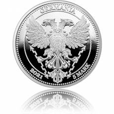 1 Unze Silber Oak Leaf Chestnut - Kastanie Germania Mint 5 Mark PP 2021