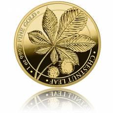 1 Unze Gold Chestnut - Kastanie Germania Mint 100 Mark Polierte Platte 2021