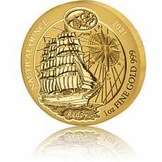1 Unze Goldmünze Ruanda Nautical Ounce Sedov 2021