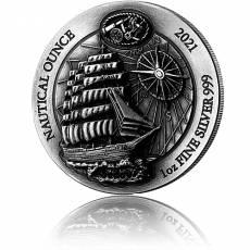 1 Unze Silbermünze Ruanda Nautical Ounce Serie -  Sedov Antik Finish High Relief 2021