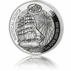 1 Unze Silbermünze Proof Ruanda Nautical Ounce Serie -  Sedov 2021