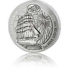 1 Unze Silbermünze Ruanda Nautical Ounce Serie - Sedov 2021