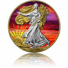 1 oz Silbermünze American Eagle Sunset 2021