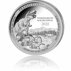 1 Unze Silbermünze Prehistoric Life T-Rex 2020