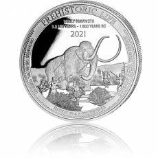 1 Unze Silbermünze Prehistoric Life Wollmammut 2021