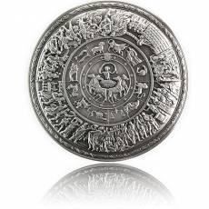 Silbermünze 2 oz Achilles Schild gewölbt 2021
