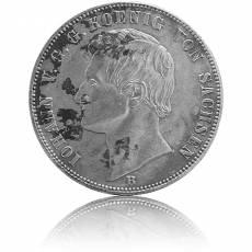 Silbermünze 1 Vereinsthaler Sachsen Johann 1864 ss/vz