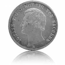 Silbermünze 1 Vereinsthaler Sachsen Johann 1863 ss/vz
