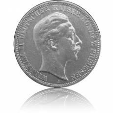 Silbermünze 3 Mark Preussen Wilhelm II 1910 (sehr schön)