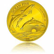 Goldmünze 1 oz Ocean Five Delphin PP 2021