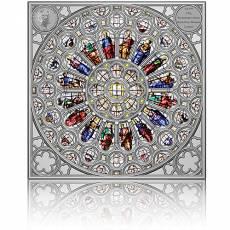 Silbermünze 150 gramm Rose Window Fenster der Westminster Abbey 2021