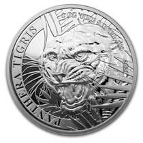 Silbermünze 1 oz Laos Tiger 2021