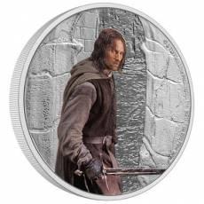1 oz Silbermünze Der Herr der Ringe Classic - Aragorn 4. Motiv 2021