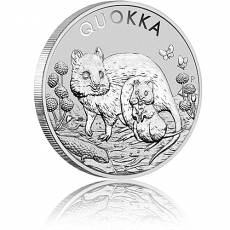 Silbermünze 1 oz Australian Quokka - Kurzschwanzkänguru 2021