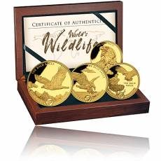 Goldmünzen 4-Coin-Prestige Set Worlds Wildlife Bald Eagle 2021