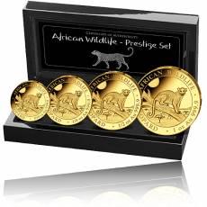 Goldmünzen 4-Coin-Prestige Set African Wildlife Leopard 2021