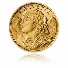 Vreneli Schweiz 20 Franken Goldmünze