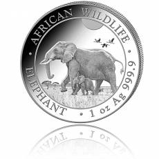 Somalia Elefant 1 Unze Silber (2022)