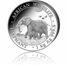 Silbermünze 1 kg Somalia Elefant 2022