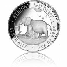 Silbermünze 5 oz Somalia Elefant 2022