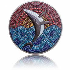 Silbermünze 3 oz The Whale Dot Art 2021