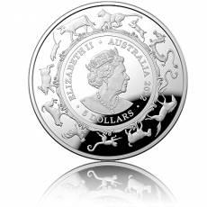 Silbermünze 1 oz Australien RAM Lunar Tiger PP gewölbt 2022