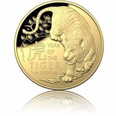 Goldmünze 1 oz RAM Lunar Tiger PP gewölbt 2022