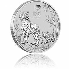 1/2 Unze Silbermünze Australien Lunar III Tiger 2022