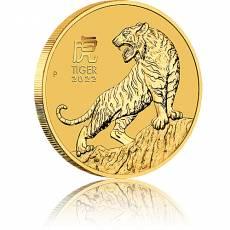 1/10 Unze Goldmünze Australien Lunar III Tiger 2022