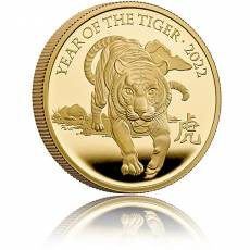 Goldmünze 1 oz Lunar Tiger United Kingdom PP 2022