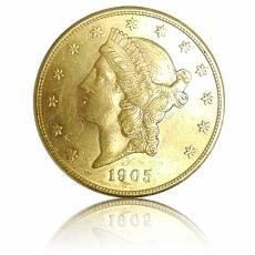 Goldmünze 20 Dollars Liberty Head 1903