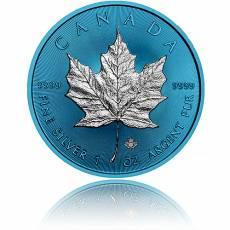 1 oz Silbermünze Maple Leaf Space Blue Effekt 2019