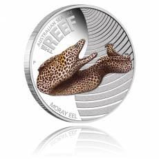 Sea Life Moray Eel 1/2 Oz Silber + Box + Zertifikat