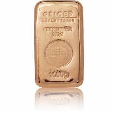 1 kg Kupferbarren (verschiedene)