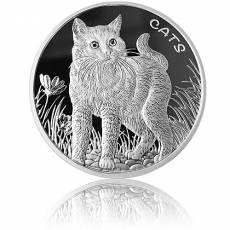 Silbermünze 1 oz Fiji Cats 2021