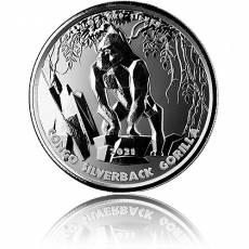 1 oz Silber Silberrückengorilla Kongo 2021