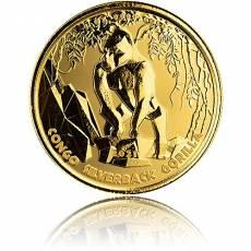 1 oz Gold Silberrückengorilla Kongo 2021
