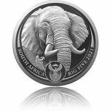 Silbermünze 1 oz Big Five II Elefant Blister 2021
