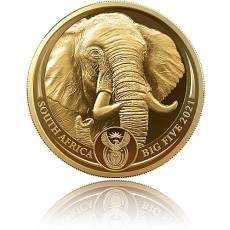 Goldmünze 1 oz Big Five II Elefant PP 2021