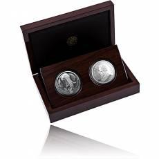 Silbermünzen - Satz 2 x 1 oz Big Five II Elefant + Krügerrand 2021