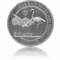 Silbermünze 1 oz Barbados Flamingo F15 PP 2017