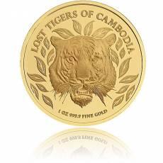 Goldmünze 1 oz Chinesischer Tiger Kambodscha 2022