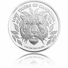 Silbermünze 1 oz Chinesischer Tiger Kambodscha 2022