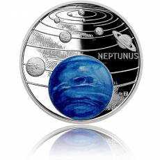 1 oz Silbermünze Solar System Neptune Polierte Platte 2021