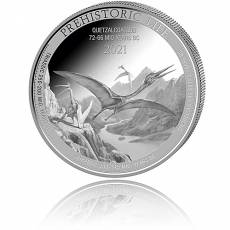 1 Unze Silbermünze Prehistoric Life Quetzacoatlus 2021