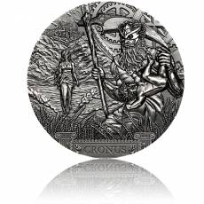 Silbermünze 3 oz Titan Cronus Antik Finish 2021