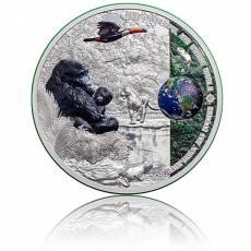 Silbermünze 2 oz Eco System Regenwald - Unsere Erde Polierte Platte 2021