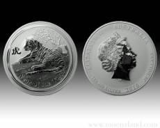 Australien Lunar Tiger 1kg Silber (2010)